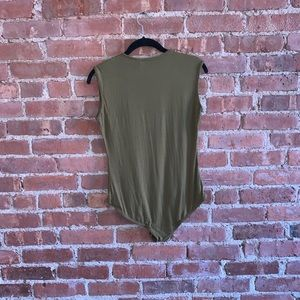 Missguided Olive Green Tank Bodysuit